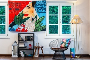 home-bath Duvar Örtüsü Fridart Renkli